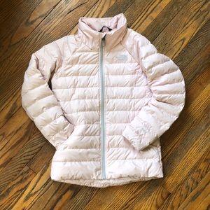 North Face Alpz Down Jacket Size L 14/16 Pale Pink